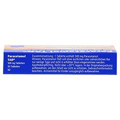 Paracetamol TAD 500mg 20 Stück N2 - Oberseite