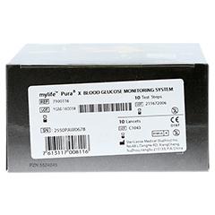 MYLIFE Pura Blutzucker Messsystem mg/dl Autocod. 1 Stück - Unterseite