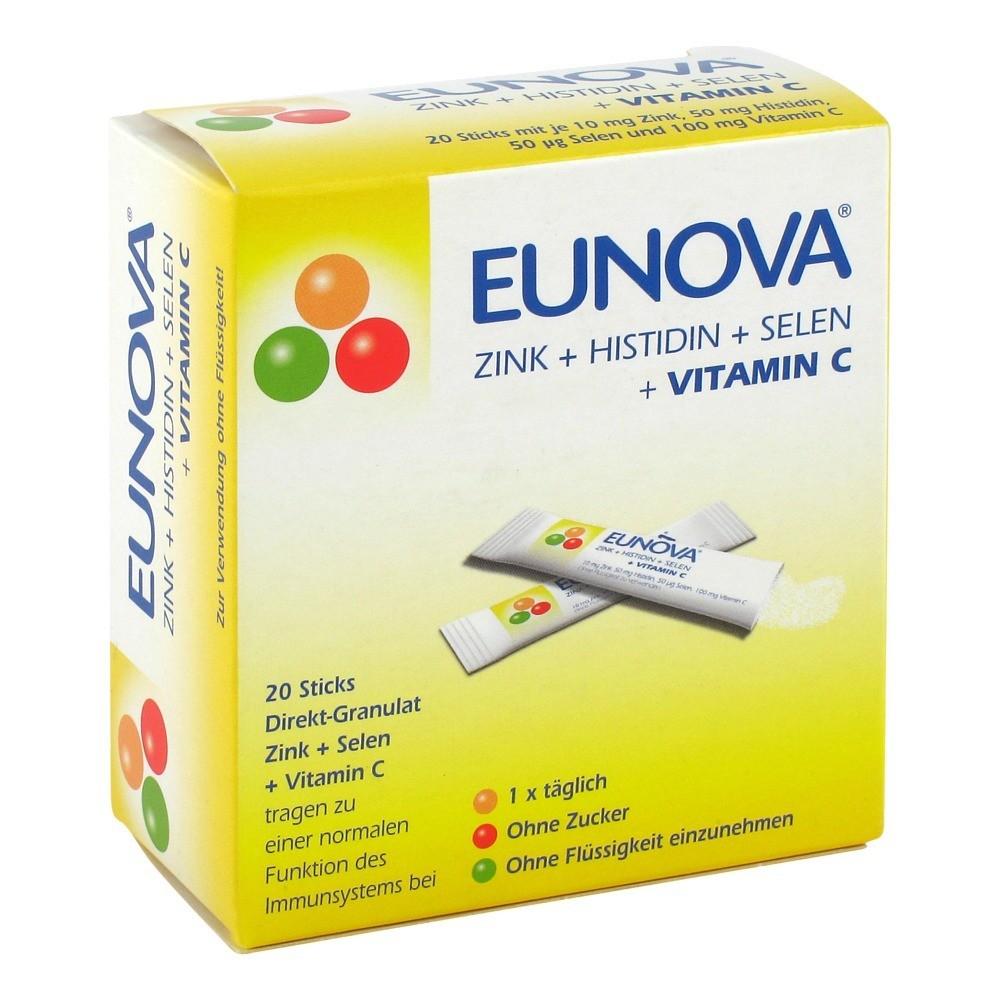 eunova zink histidin selen vitamin c beutel 20 st ck online bestellen medpex versandapotheke. Black Bedroom Furniture Sets. Home Design Ideas