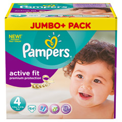 PAMPERS Active Fit Gr.4 maxi 7-18kg Jumbo plus Pa. 64 Stück