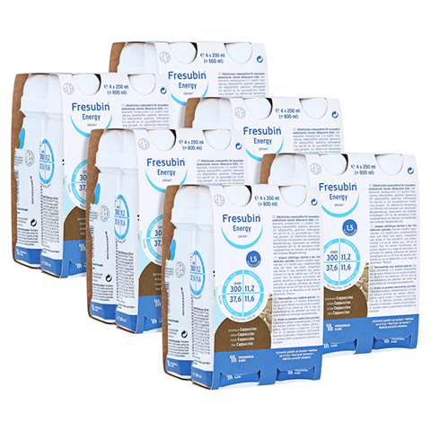 Fresubin Energy Drink Cappucino Trinkflaschen 6x4x200 Milliliter
