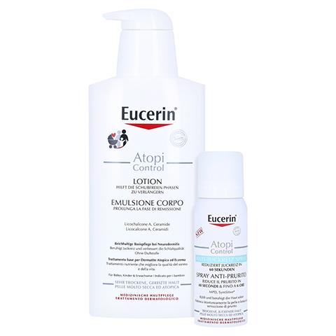 Eucerin AtopiControl Lotion + gratis Eucerin AtopiControl Anti-Juckreiz Spray 50 ml 400 Milliliter