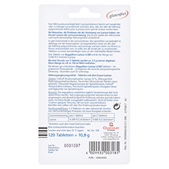 DOPPELHERZ Lactase 4.500 Tabletten 120 Stück - Rückseite
