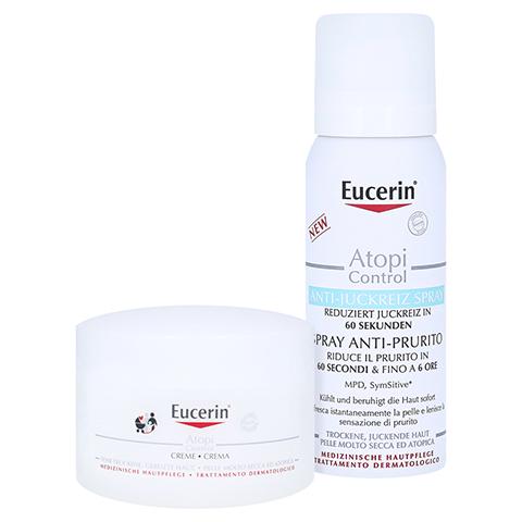 Eucerin AtopiControl Creme + gratis Eucerin AtopiControl Anti-Juckreiz Spray 50 ml 75 Milliliter
