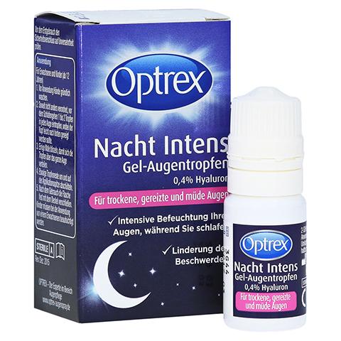Optrex Nacht Intens Gel-Augentropen 0,4% Hyaluron 10 Milliliter