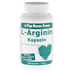 L-ARGININ 500 mg Kapseln 250 Stück