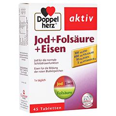 DOPPELHERZ Jod+Folsäure+Eisen Tabletten 45 Stück