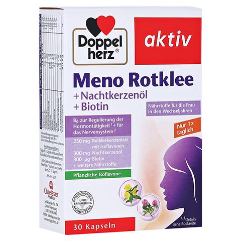 DOPPELHERZ Meno Rotklee+Nachtkerzenöl+Biotin Kaps. 30 Stück