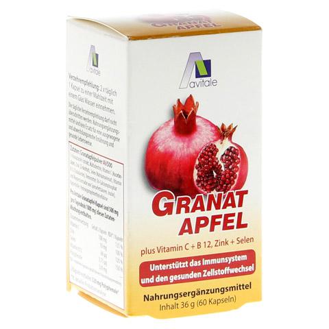 GRANATAPFEL 500 mg plus Vit.C+B12+Zink+Selen Kaps. 60 Stück