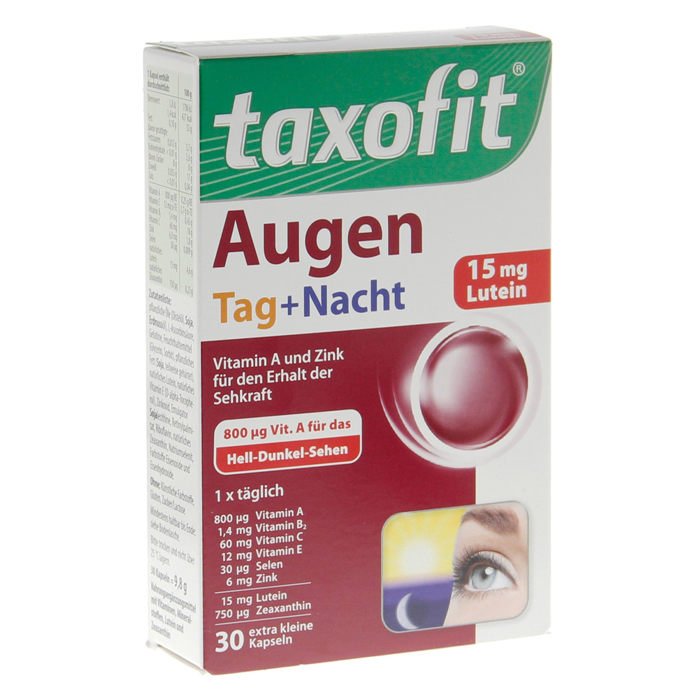 Erfahrungen zu TAXOFIT Augen Tag+Nacht Kapseln 30 Stück