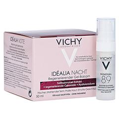 VICHY IDEALIA Skin Sleep Nachtcreme + gratis Vichy Mineral 89 Mini 50 Milliliter