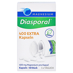 MAGNESIUM DIASPORAL 400 Extra Kapseln 50 Stück - Vorderseite