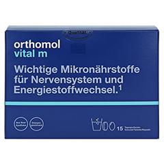 ORTHOMOL Vital M 15 Granulat/Kaps.Kombipackung 1 Stück - Vorderseite