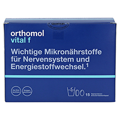 ORTHOMOL Vital F 15 Granulat/Kaps.Kombipackung 1 Stück - Vorderseite