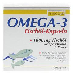 OMEGA-3 Fischöl Kapseln 100 Stück - Vorderseite