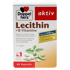 Doppelherz aktiv Lecithin + B-Vitamine 40 Stück - Vorderseite