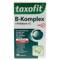 TAXOFIT Vitamin B Komplex Depot Tabletten 40 Stück - Vorderseite