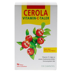 CEROLA Vitamin C Taler Grandel 96 Stück - Vorderseite