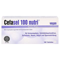 CEFASEL 100 nutri Selen-Tabs 100 Stück - Vorderseite