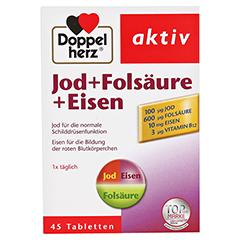 DOPPELHERZ Jod+Folsäure+Eisen Tabletten 45 Stück - Vorderseite