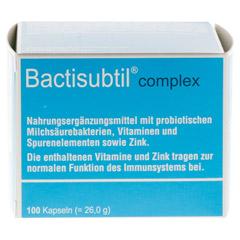 BACTISUBTIL Complex Kapseln 100 Stück - Vorderseite