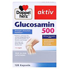 DOPPELHERZ Glucosamin 500 Kapseln 120 Stück - Vorderseite