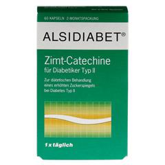Alsidiabet Zimt Catechine f.Diab.Typ II Kapseln 60 Stück - Vorderseite