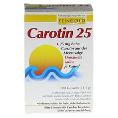 Carotin 25 Feingold Kapseln 100 Stück - Vorderseite