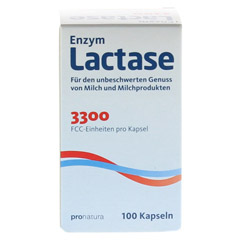 LACTASE 3.300 FCC 200 mg Kapseln 100 Stück - Vorderseite
