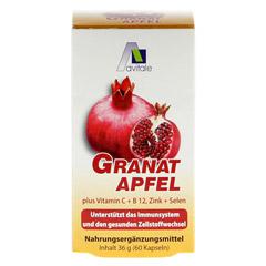 GRANATAPFEL 500 mg plus Vit.C+B12+Zink+Selen Kaps. 60 Stück - Vorderseite