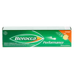BEROCCA Performance Brausetabletten 15 Stück - Vorderseite