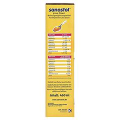 SANOSTOL plus Eisen Saft 460 Milliliter - Linke Seite