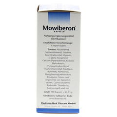 MOWIBERON Kapseln 150 Stück - Linke Seite