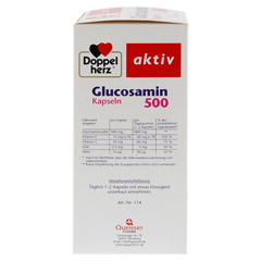 DOPPELHERZ Glucosamin 500 Kapseln 120 Stück - Linke Seite