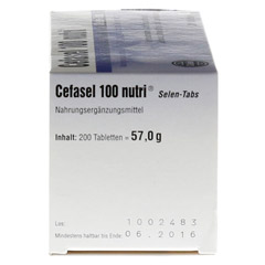 Cefasel 100 Nutri Selen-Tabs 200 Stück - Linke Seite