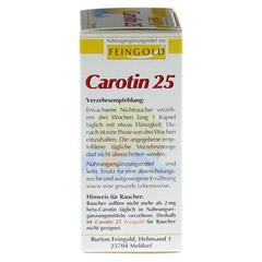 Carotin 25 Feingold Kapseln 100 Stück - Rechte Seite
