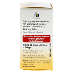 GRANATAPFEL 500 mg plus Vit.C+B12+Zink+Selen Kaps. 60 Stück - Rechte Seite