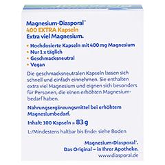 MAGNESIUM DIASPORAL 400 Extra Kapseln 100 Stück - Rückseite
