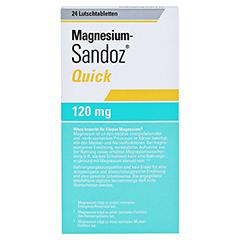 MAGNESIUM SANDOZ Quick Minerals Lutschtabletten 24 Stück - Rückseite