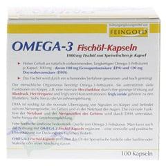 OMEGA-3 Fischöl Kapseln 100 Stück - Rückseite