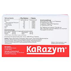 KARAZYM magensaftresistente Tabletten 100 Stück - Rückseite