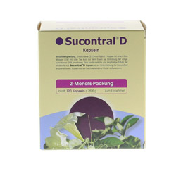SUCONTRAL D Diabetiker Kapseln 120 Stück - Rückseite
