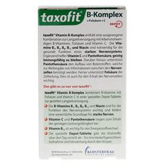 TAXOFIT Vitamin B Komplex Depot Tabletten 40 Stück - Rückseite