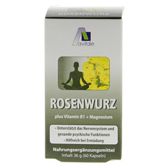 ROSENWURZ Kapseln 200 mg 60 Stück - Rückseite