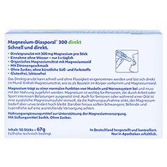 MAGNESIUM DIASPORAL 300 direkt Granulat 50 Stück - Rückseite