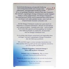 Doppelherz aktiv Seefischöl Omega-3 1.000 mg + Folsäure + B1 + B6 + B12 Kapseln 60 Stück - Rückseite