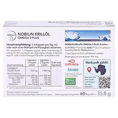 Nobilin Krillöl Omega-3 Plus Kapseln 2x60 Stück - Rückseite
