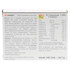 Vitaverlan Tabletten 100 Stück - Rückseite