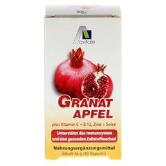GRANATAPFEL 500 mg plus Vit.C+B12+Zink+Selen Kaps. 60 Stück - Rückseite