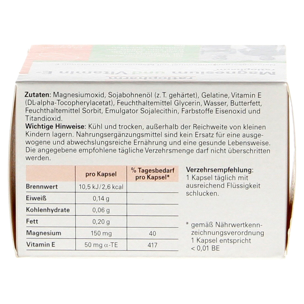 magnesium und vitamin e ratiopharm 60 st ck online. Black Bedroom Furniture Sets. Home Design Ideas
